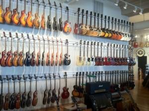 Guitar wall 1 - Lots of guitars
